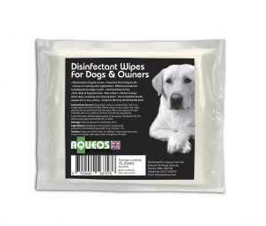 Canine anti-bacterial wipes